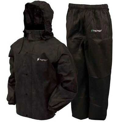 Frogg Toggs AS1310-01MD Men's Black All Sport Rain/Water Suit - Size Medium