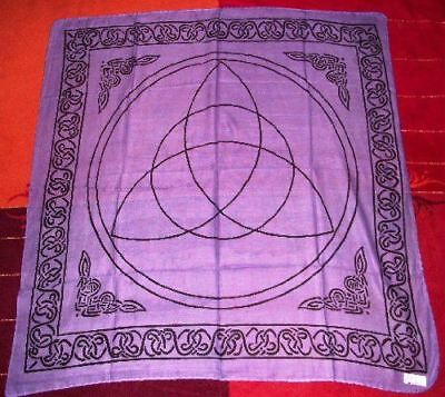 Triquetra Altar Tarot Cloth Cotton Wicca Pagan New Design