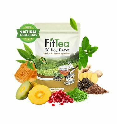 Fit Tea 28 Day Detox, Fat Burning, All Natural ingredients, NO GMO, Recommended