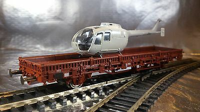 * Miniatur Modell 1910 Flat Wagon with Helicopter Load I:87 HO Scale