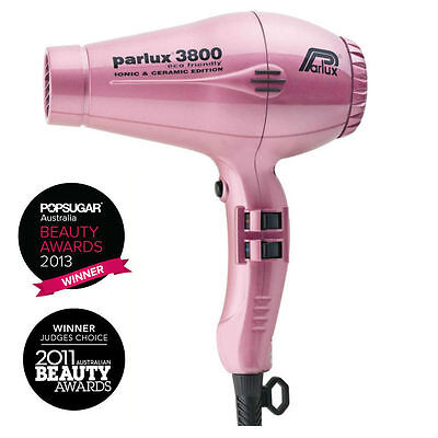 Parlux 3800 Ceramic & Ionic Eco Friendly Hairdryer PINK