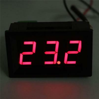 DC 12V K Type Thermocouple Thermometer 0-999℃ LED Temperature Meter with Cables