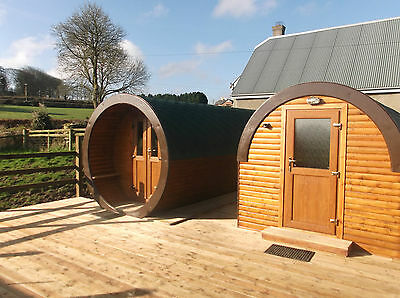 Glamping holiday short break Cornwall luxury pods ensuite hot tub campfire deck