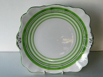 Vintage ROSLYN  Bone China Cake plate  made in England Art Deco style