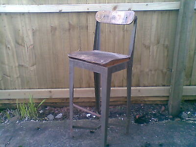 vintage industrial machinist chair,stool,1940s ideal barber shop, tattoo studio