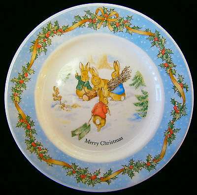 Wedgwood PETER RABBIT Christmas 1996 Collectors Plate New In Box