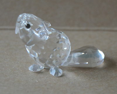 Swarovski Baby Beaver Sitting Mint In Box Retired. 7616 Nr 000 002