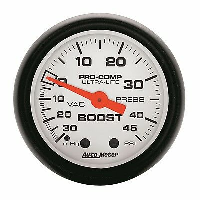 AutoMeter 30 in. Hg/45 psi Phantom Analog Boost/Vacuum Gauge * 5708 *