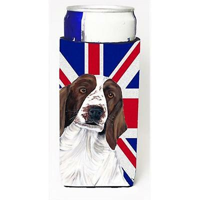 Springer Spaniel With English Union Jack British Flag Michelob Ultra bottle s...
