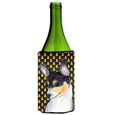 Chihuahua Candy Corn Halloween Portrait Wine Bottle Hugger 24 oz.