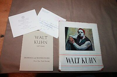WALT KUHN  RETROSPECTIVE HC DJ WITH preview invite & SMALLER CATALOGUE