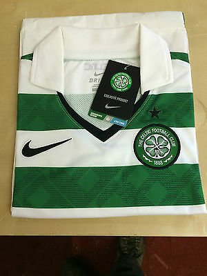 Celtic official Nike hoop home top long sleeve no shirt sponsor on front £14.99