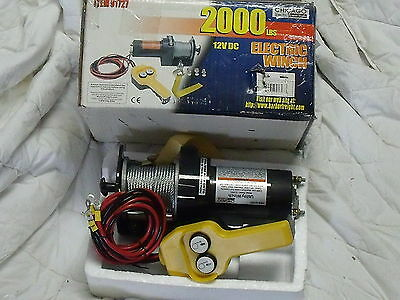 Chicago Electric Winch 2000 lbs 1.5 HP Item #91727 Power Tool