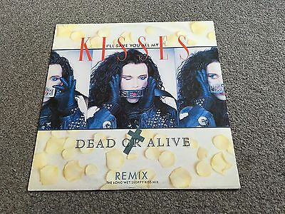 """Dead Or Alive - I'll Save You All My Kisses - 1987 12"""" Signed By Pete Burns Ex"""
