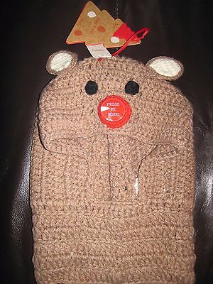 Next REINDEER CHRISTMAS KNIT BEANIE BALACLAVA HAT RUDOLPH AGE 3-10 NEW light up