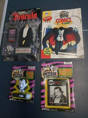 Universal Monsters Dracula Action Figure Flashlight Slide Puzzle & Coloring Book