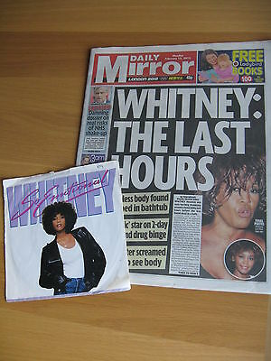 WHITNEY HOUSTON NEWSPAPER & 1987 Single ( Twin Package )
