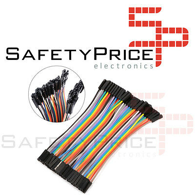 40 CABLES HEMBRA HEMBRA 10cm jumpers dupont 2,54 arduino pic protoboars