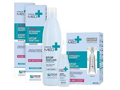 Cece MED Anti Hair Loss Shampoo 300ml Conditioner 300ml Scalp Lotion & Ampoules