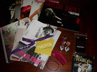 Taylor Swift Red Tour Book Speak Now Fearless Guitar Picks Phone Case DVD & more