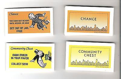 Monopoly Game Pieces - chance community chest cards - Standard ed