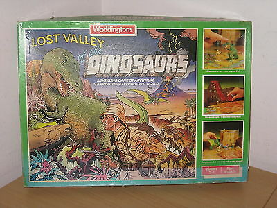 Vintage Lost Valley Of The Dinosaurs Board Game Complete Waddingtons 1985