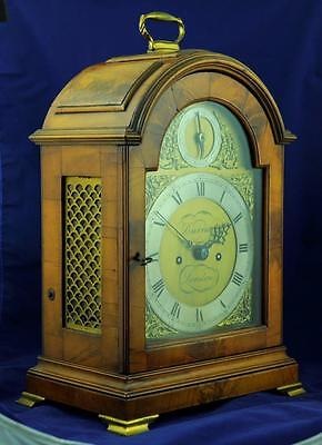 FINE TRIPLE PAD TOP BRACKET CLOCK DOUBLE FUSEE - Durrant London