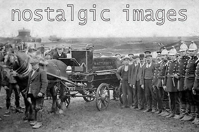 Photo Taken From 1907 Image Of The Iwhittlesey Fire Brigade