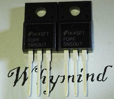 2 PCS FQPF9N50CT 500V N-Channel MOSFET TO-220F New