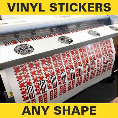 Printing Service - vinyl sticker sheets printed with your design