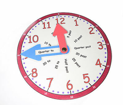 Learn To Tell The Time Clock Face Educational Maths Teaching Learning Aid