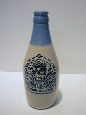 Attractive blue top skittle shape semi pictorial transferred ginger beer
