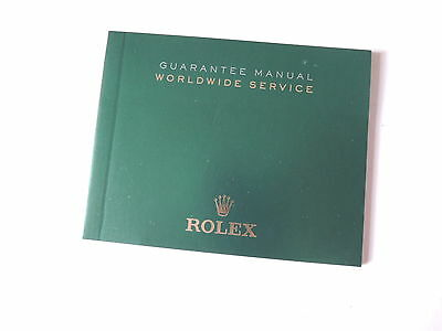♛ Authentic R0LEX ♛  Guarantee Worldwide Service Watch Manuals & Guides Booklet