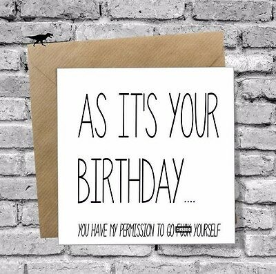 RUDE Greetings Birthday Card Best Friend Funny Cheeky Joke Humour Brother Mate