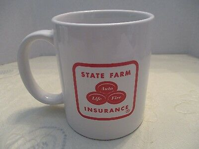 """State Farm Insurance"" White/Red Ceramic Coffee Cup/Mug"