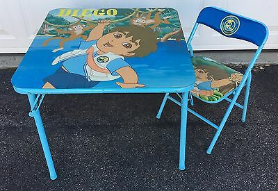 Diego Kids Table and Chair Set Children Play Activity Center Study Toddler Seat