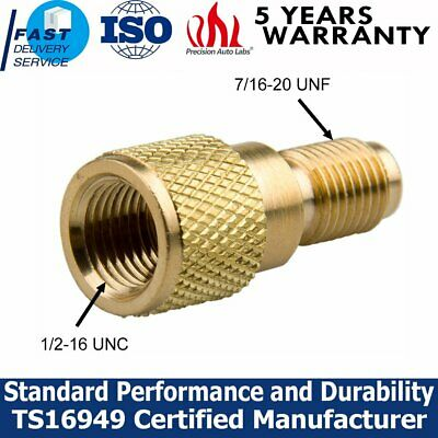 """R134a Brass Adapter 1/4"""" Male to 1/2"""" ACME Female Charging Hose to Vacuum Pump"""