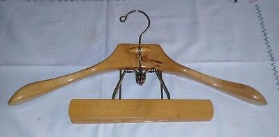 Vintage Setwell Wood Suit and Hanger w Padded Clamp *READ*
