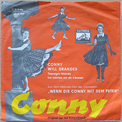 """7"""" Conny und Will Brandes - Teenager Melody - DE 1958 - VG+(+) to VG++"""