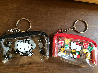Sanrio Hello Kitty mini case bag keychain 1997 set