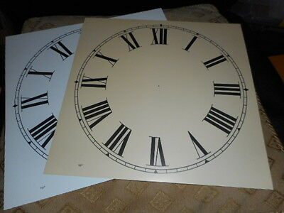 "Paper Clock Dial - 10"" M/T - Roman Numerals -Matt Cream- Face / Clock Parts"