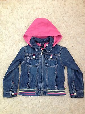 Girls GAP Denim Jacket with Removable Hood, size 4 years - VGC