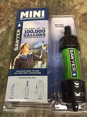 Sawyer Mini filter Green Filters up to 100,000 Gal.