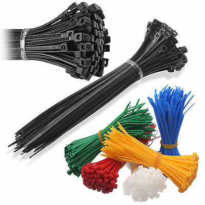Nylon Plastic Cable Ties Long and Wide Large Zip Ties Black White Coloured Wrap