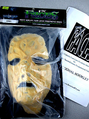 Scarred Face Foam Latex Prosthetic Mask Bone Yard Fx New in pack Scary Realistic