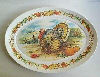 Brookpark Turkey Platter Thanksgiving Christmas Meat Serving Dish Melamac