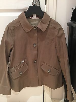 BONPOINT Cloud Raincoat In Taupe Age 10