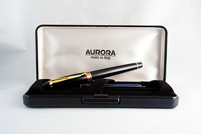 Aurora Ipsilon stilografica B 11 fountain pen NOS pennino M nib black red rosso