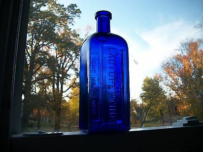 BIG SQUARE BRIGHT COBALT LACTOPEPTINE BEST REMEDIAL AGENT DIGESTIVE ORDERS 1890s