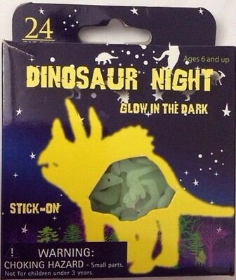 Dinosaur Night Glow in the Dark Shapes Pack of 24 NEW
